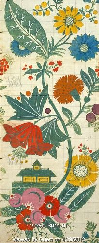 Textile design, by James Leman (1688-1745). Painting. Spitalfields, London, England, c.1706-07.
