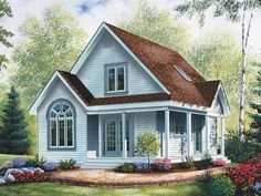 Cottage House Plan with 1168 Square Feet and 3 Bedrooms from Dream Home Source | House Plan Code DHSW53068