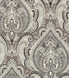 Kelly Ripa Upholstery Fabric-Pretty Witty Ebony