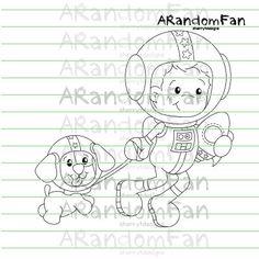 Digital Stamps Astro Boy por ARandomFan en Etsy