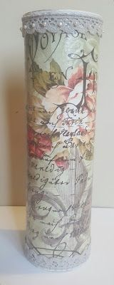 Love Paris - Pringles can redecorated with decoupage