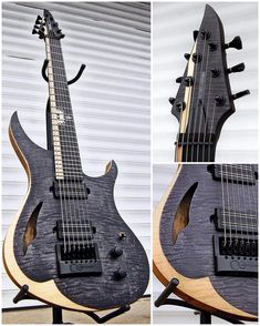 """3,231 Me gusta, 29 comentarios - #DJENTSPACE ® (@djentspace) en Instagram: """"Check out this mind-blowing Skervesen 4AP-7 Custom. Guitar owned by @mannanalawar of…"""""""
