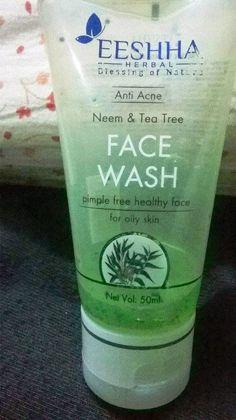 Beauty & Beyond: EESHHA HERBAL ANTI-ACNE NEEM & TEA TREE FACE WASH ...