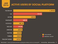 users social media gennaio 2014