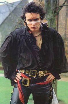 The adorable Adam Ant <3 <3 pirate shirt.... sweet.