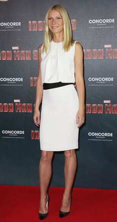 Gwenyth Paltrow on the red carpet for Iron Man premiere. She is perfect!