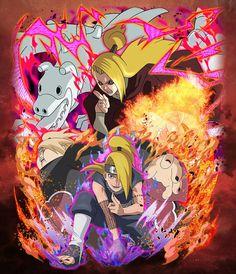 Naruto Drawings, Naruto Art, Anime Naruto, Sasuke, Naruto Shippuden, Boruto, Deidara Wallpaper, Anime Akatsuki, Fan Anime