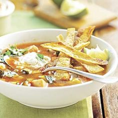 Looking for a recipe that uses leftover turkey? Try this simple Mexican-inspired soup that combines zucchini, tortillas, and salsa and can be made in less than 30 minutes.