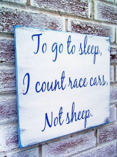Nascar Racing Race car baby nursery Little by deSignsOfExpression … Race Car Nursery, Race Car Room, Car Themed Nursery, Car Themed Bedrooms, Car Bedroom, Nursery Themes, Room Themes, Bedroom Ideas, Toddler Rooms