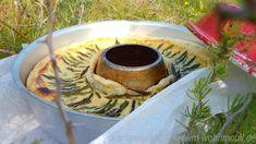 Herzhaftes aus dem Omnia Backofen: Blätterteig Quiche wildem grünen Spargel aus der Campingküche