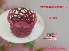 D.I.Y - Newspaper Basket 6 - tutorial - YouTube