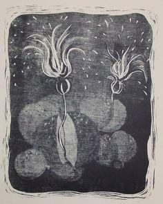 空想/幻想画「月下に咲く(1/3)」[村山美佐緒]   ART-Meter