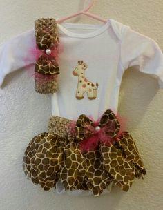 Giraffe  Tutu Set for my niece HaiLeigh Rae...