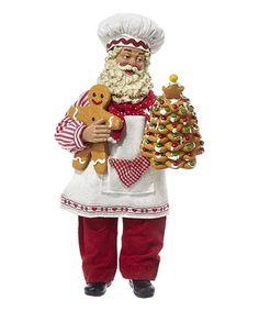 Santa Christmas Cookie Tree Figurine