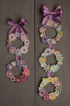 matsumoto_11_11_08 Paper Flower Wreaths, Paper Flower Art, Paper Flowers Craft, Giant Paper Flowers, Flower Crafts, Diy Flowers, Paper Art, Paper Crafts, Craft Work For Kids