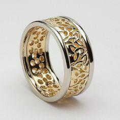 Ealga Trinity Wedding Band (C-51) - Celtic Wedding Rings