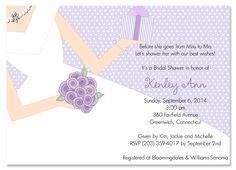 Present Day Lilac Bridal Shower Invitations