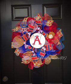 A personal favorite from my Etsy shop https://www.etsy.com/listing/269226826/anaheim-angels-anaheim-angels-wreath