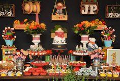 festa_infantil_priscilla_pandolfo_fazendinha9 Fall Wedding Cupcakes, Wedding Cakes, Farm Birthday, Birthday Cake, Fox Party, Party Cakes, Our Wedding, Table Settings, Table Decorations
