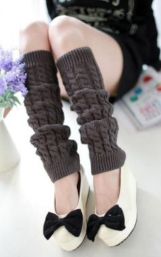 a583ec4b3a7 Adofeeno Fashion Winter Leg Warmers for Women Fashion Gaiters Boot Cuffs Socks  Women Warm Black White