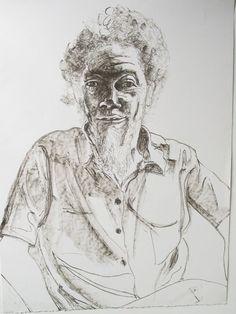 Benny Andrews - Alice Neel  http://www.printed-editions.com/artwork/alice-neel-benny-andrews-29187