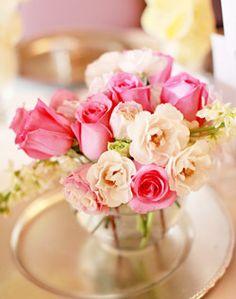 WeddingChannel Galleries: Mixed Pink Centerpiece