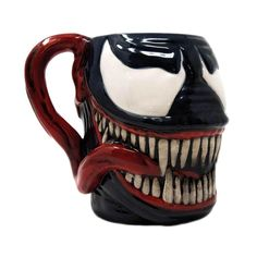 Hand wash only Material: ceramic. Face of Venom design coffee mug. In a cardboard display box. Marvel Mug, Marvel Venom, Marvel Comics, Venom Comic Book, Venom Character, Biscuit, Deadpool, Stranger Things Lights, Vases
