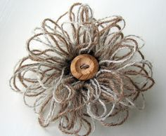Loopy Flower Brooch Free Crochet Tutorial - crochet. soo fun! and easy! Cannot wait to use this all over everything!!!:) @Tiffany Vindel ...you like?