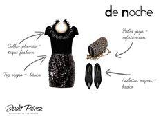 Cómo combinar una falda glitter para un look de noche. #comocombinar #looksnochebuena #looksnochevieja #looksnavidad