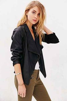 BB Dakota Ellif Vegan Leather Jacket - Urban Outfitters