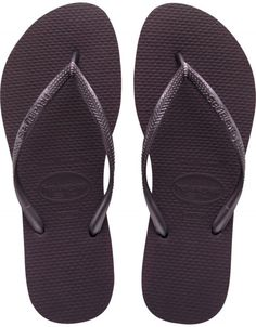 bad38b1b0e585d Havaianas Women s Slim Flip Flops Colour  Purple (Grape Wine Havaianas