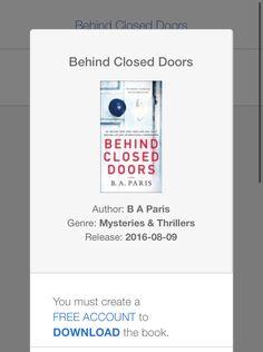 Behind Closed Doors Book, You Must, Author, Paris, Books, Free, Montmartre Paris, Libros, Book