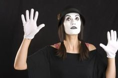 Mime performing