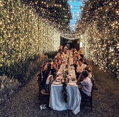 Magical, Fairy Lit Wedding Reception ~ Starry starry night; Italian Eye #cheapweddingplanning