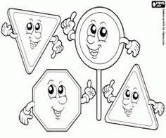 Αποτέλεσμα εικόνας για traffic signs coloring pages Coloring Pages, Playing Cards, Shapes, Fictional Characters, Education, Image, Art, Coloring For Kids, Colors