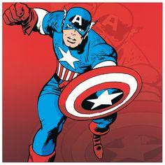 Comic - Captain America 27x27 cm #artprints #interior #design #art #print #cartoon  Scopri Descrizione e Prezzo http://www.artopweb.com/categorie/cartoni/EC21512