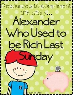 Alexander Who Used to be Rich Last Sunday Supplemental Packet Sunday Activities, Math Activities, Student Teaching, Teaching Ideas, Math School, Reading Street, Writing Strategies, 2nd Grade Reading, Library Ideas