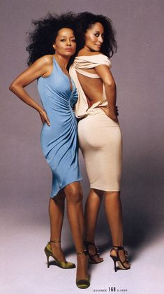 Mom and Daughter. Ms. Diana Ross and Tracee Ross.  Two Fashionistas!