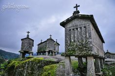 espigueiros (traditional granaries) in Vila do Soajo, Portugal The Beautiful Country, Lisbon, Big Ben, National Parks, Traditional, Architecture, Places, Travel, Porto