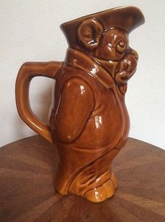 Antique-Victorian-Majolica-French-Bulldog-Pitcher-fm1070