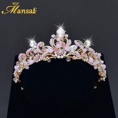 Cheap gold tiara, Buy Quality rhinestone tiara directly from China tiara baroque Suppliers: High Quality Rhinestone Tiara Cheap Bridal Crown Hair Jewelry Pink Crystal Princess Crowns and Tiaras Baroque Gold Tiara HG217