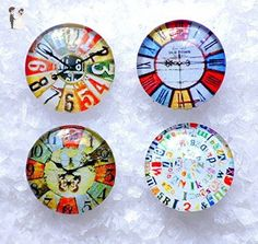 Ginger Noosa Snap Charm Vintage Clock Pattern Popper Chunk Charm Interchangeable Button Jewelry. Snap On. The Price is for one unit. - Wedding bracelets (*Amazon Partner-Link)