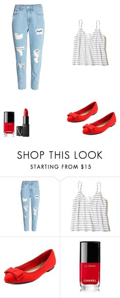 """Untitled #38"" by kaley-shirley on Polyvore featuring Hollister Co., Karen Scott, Chanel and NARS Cosmetics"