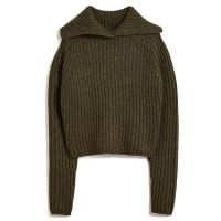 CARVEN Chunky Cropped Sweater. #carven #shoes #