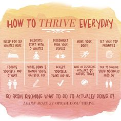 How To Thrive Everyday by Arianna Huffington - are you doing the online Thrive…