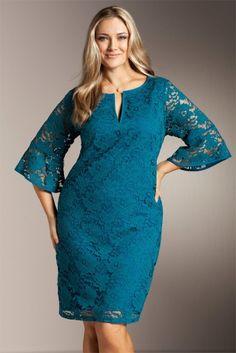 7c9238a36ca9 Plus Size Women s Fashion - Sara Lace Dress - EziBuy Australia Vestiti Di  Dimensioni Particolari