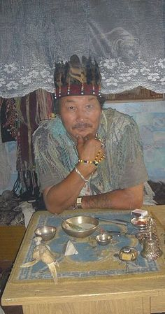 Shaman doctor of Kyzyl, 2005. Attempts are being made to preserve and revitalize Tuvan shamanism:[82] former authentic shamans have begun to practice again, and young apprentices are being educated in an organized way. http://streetshamans.com