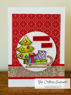 Image Ready, Weekend Crafts, Whimsical Christmas, Christmas Cards To Make, Stamping Up, Long Weekend, Engineer, Card Ideas, December