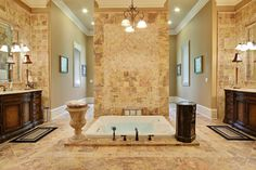 Your luxury real estate destination. Browse & search all the latest million dollar home listings & mansions for sale Roman Bathroom, Roman Bath House, Tuscan Bathroom, Master Bath Layout, Sunken Tub, Georgia Homes, Atlanta Georgia, Rich Home, Dream Bath