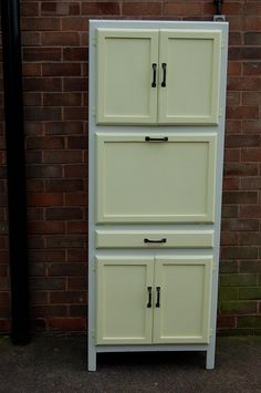 This is a wonderful 1950's free standing kitchen this was one of my first furniture restoration projects